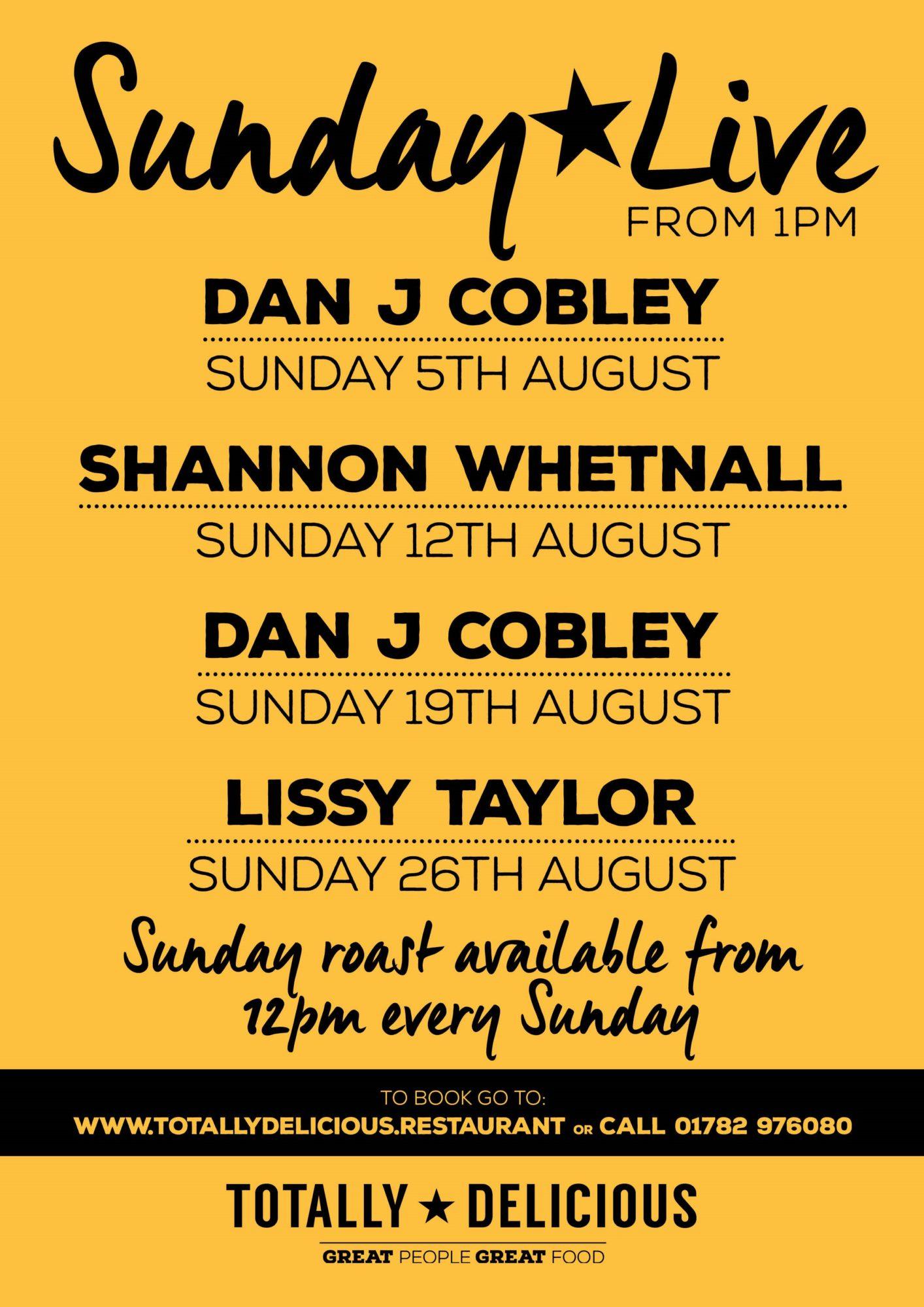 Sunday Live August18